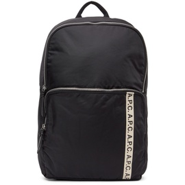 A.P.C. Black Vertical Repeat Backpack 211252M166110