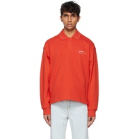 ADER error Orange Needle Logo Long Sleeve Polo 211039M212002