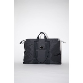 Acnestudios Logo plaque tote bag black C10074-900