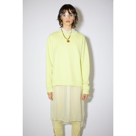 Acnestudios Logo sweatshirt lemon yellow AI0067-ABR