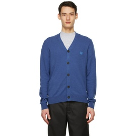 Acne Studios Blue Wool Patch Cardigan 211129M200042