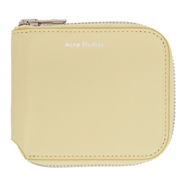 Acne Studios Off-White Compact Zip Wallet 211129F040109