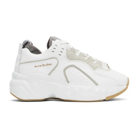Acne Studios SSENSE Exclusive White Nappa Manhattan Sneakers 211129F128018