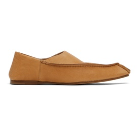 Acne Studios Tan Lambskin Slippers 211129F121094