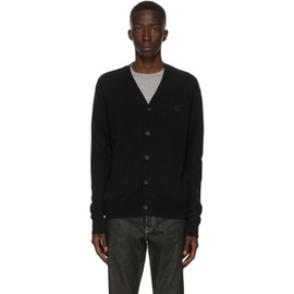 Acne Studios Black V-Neck Patch Cardigan 202129M200013