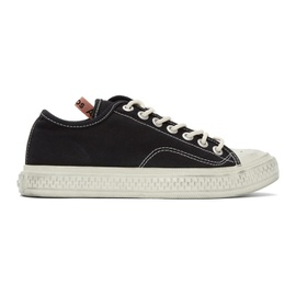 Acne Studios Black Canvas Low-Top Sneakers 211129M237055