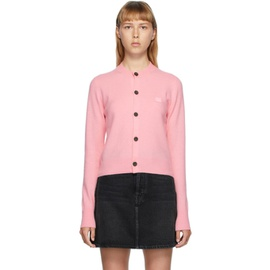 Acne Studios Pink Patch Crewneck Cardigan 202129F095014