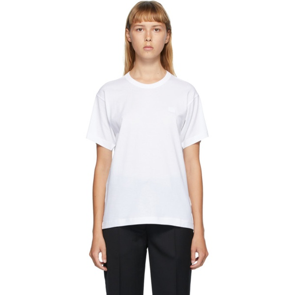 아크네스튜디오 Acne Studios White Nash Patch T-Shirt 202129F110032