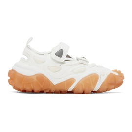 Acne Studios SSENSE Exclusive White & Pink Velcro Sneakers 211129F128016