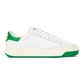 Adidas Originals White & Green Rod Laver Sneakers 211751M237090