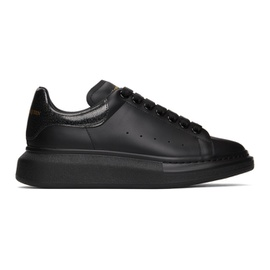 Alexander McQueen SSENSE Exclusive Black Iridescent Oversized Sneakers 211259M237102