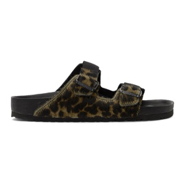 Random Identities Green Birkenstock Edition Pony Hair Leopard Arizona Sandals 201172M234071