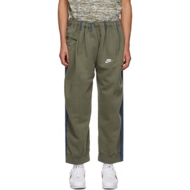 Bless SSENSE Exclusive Khaki & Blue Overjogging Lounge Pants 211852M190024