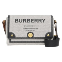 BURBERRY Medium Note Horseferry Print Canvas & Leather Crossbody Bag 6212040