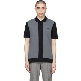 Comme des Garcons Homme Deux Black & Grey Fred Perry Edition Colorblocked Polo 202058M180001