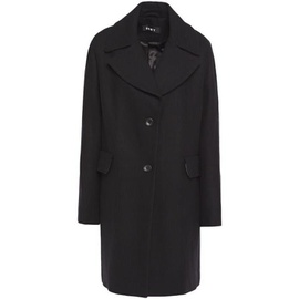 DKNY Black Brushed wool-blend coat 8008779905186391