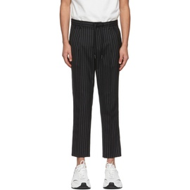 Dolce & Gabbana Black Wool Double-Pleated Pinstripe Trousers 211003M191000