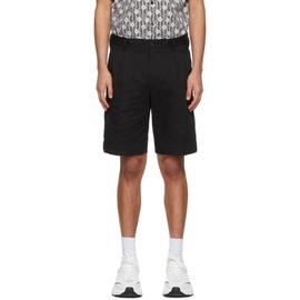 Dolce & Gabbana Black Double-Pleated Shorts 211003M193000