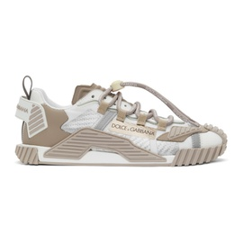 Dolce & Gabbana White & Beige NS1 Sneakers 211003M237019