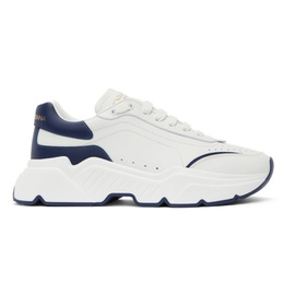 Dolce & Gabbana White & Blue Daymaster Sneakers 211003M237043