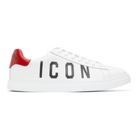 Dsquared2 White & Black Icon New Tennis Sneakers 211148M237001