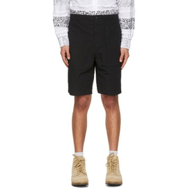 Engineered Garments Black Ripstop Fatigue Shorts 211175M193010