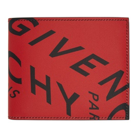 Givenchy Red Refracted Logo Wallet 211278M164105