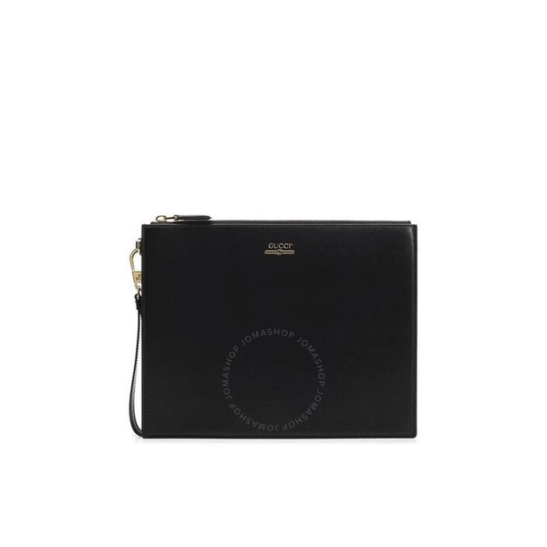 구찌 Black Leather Pouch With Gucci Logo 547613 0YA0G 1000