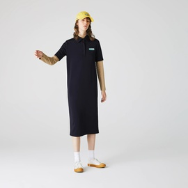 Lacoste Womens LIVE Straight Cut Badge Flowing Polo Dress EF1319-51_HDE