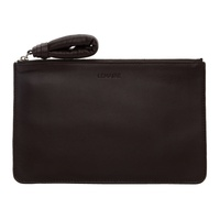 Lemaire Brown A5 Pouch 211646M171001