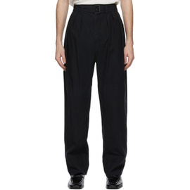 Lemaire Black 4 Pleats Trousers 211646M191018