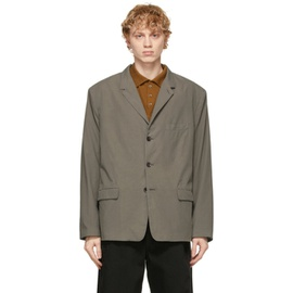 Lemaire Grey Soft Single Breasted Blazer 211646M195010