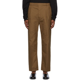 Lemaire Brown Pleated Drawstring Trousers 202646M191079