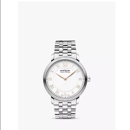 Montblanc Men's Tradition Stainless Steel White Dial Watch 119963