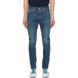 RRL Blue Slim Narrow Selvedge Jeans 211435M186024