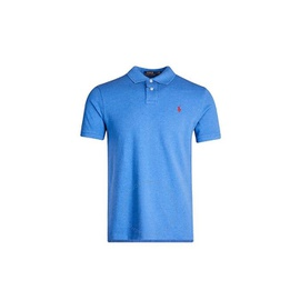 Polo Ralph Lauren Mens Embroidered Logo Polo Shirt in Blue 710680784134