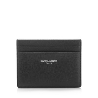 Saint Laurent Grain de Poudre Leather Card Case 3756220