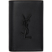 Saint Laurent Black Monogram Credit Card Wallet 211418M164177