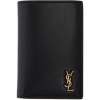 Saint Laurent Black Tiny Monogramme Credit Card Holder 211418M164189