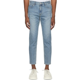 Solid Homme Blue Slim Cropped Jeans 211221M186032