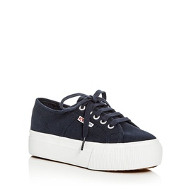 Superga Womens Lace Up Platform Sneakers 1251231