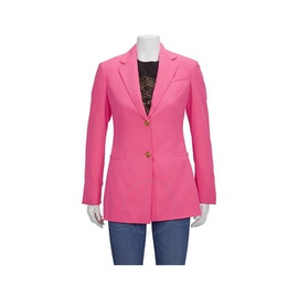 Versace Ladies Pink Single-Breasted Blazer Jacket A82699-A228915-A1705