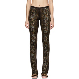 Versace Brown Python Print Trousers 211404F087615